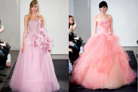 Vera Wang kolekcja różowych sukien ślubnych