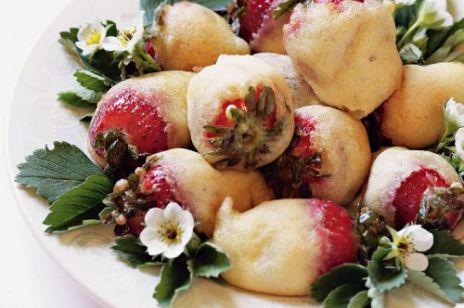 Smażone truskawki w chrupiącej skorupce