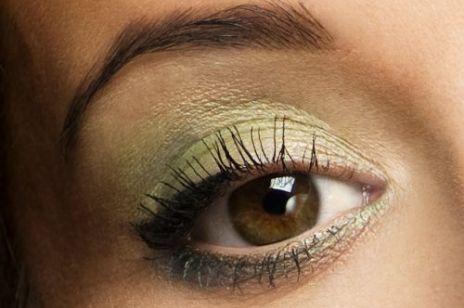 """Wiosenny makijaż oka """"zielona łąka"""""""