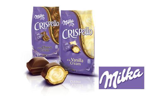 Milka Crispello – pralinka potrójnej przyjemności