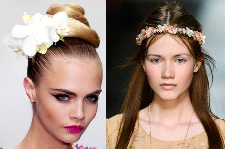 Kwiaty we włosach na ślubie