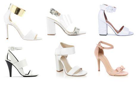 Buty ślubne - sandały na obcasie