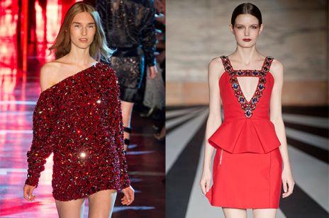 Sylwestrowe inspiracje z wybiegów - czerwona sukienka
