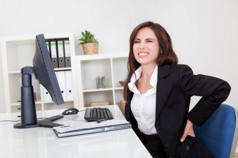 Nadmiar pracy - bóle pleców
