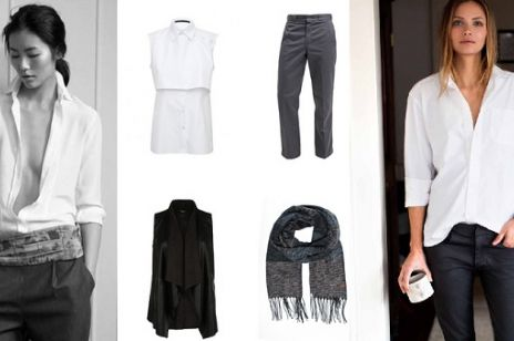 Elegancka i stylowa - biała koszula