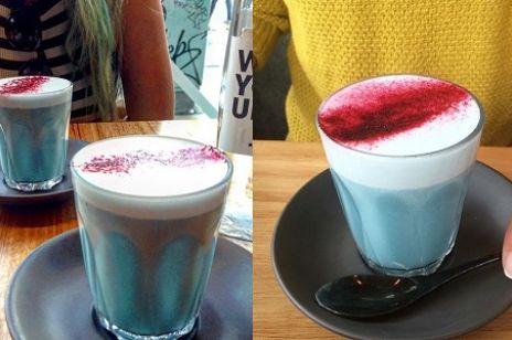 Hit 2016! Niebieska wegańska kawa latte!