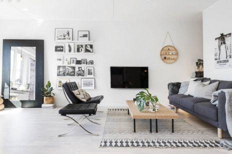 Czerń i biel w mieszkaniu w BARCELONIE