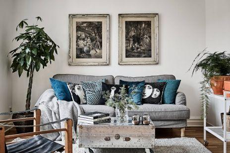 Modne niebieskie akcenty w mieszkaniu