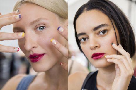 Trend uroda wiosna 2017: transparentny manicure z wzorkami