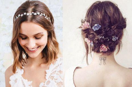 17 oszałamiających fryzur ślubnych dla KRÓTKICH włosów