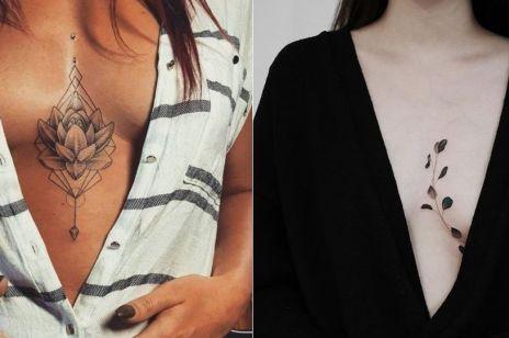 Tatuaże między PIERSIAMI: 15 modnych wzorów