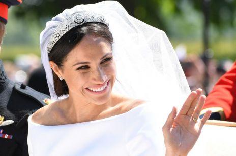 Co ukryła Meghan Markle w swojej sukni ślubnej? To urocze!