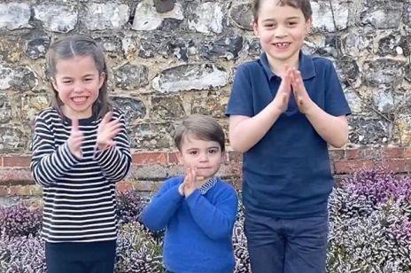 Urocza trójka książęcej pary - George, Charlotte i Louis we wzruszającym nagraniu
