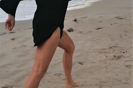 Maja Komorowska zachwyca figurą na plaży. Ma 82 lata i figurę nastolatki