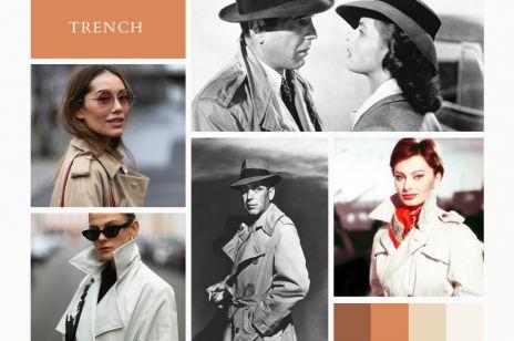 TRENCZ - od śmierdzących okopów, przez Casablancę aż do stylowej szafy paryskiej dziewczyny. Niezwykła historia kultowego wiosennego płaszcza