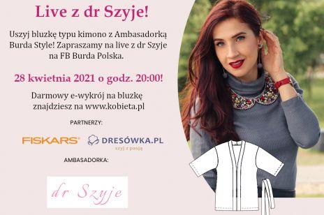 Uszyj bluzkę w stylu kimono z naszą ambasadorką Dr Szyje!