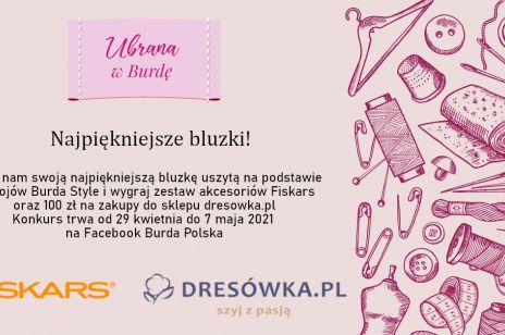 Ubrana w Burdę – konkurs na najpiękniejszą bluzkę