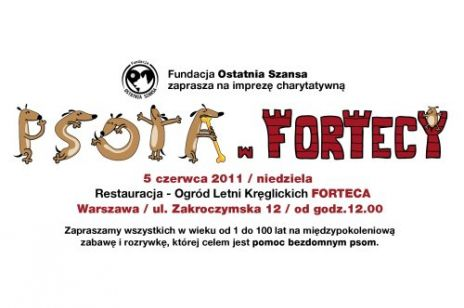 Fundacja Ostatnia Szansa zaprasza na imprezę charytatywną Psota w fortecy