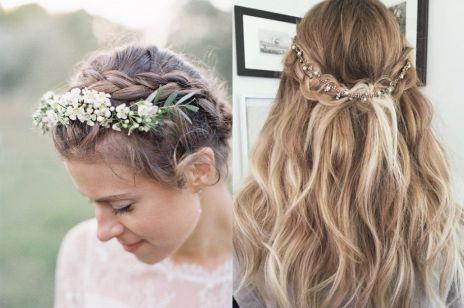 Piękne i proste fryzury ślubne w stylu boho
