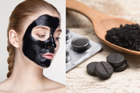 Czarna maska do twarzy