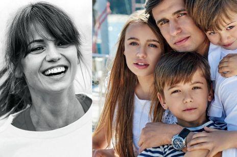 Anna Przybylska i Jarosław Bieniuk z dziećmi