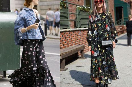 Długie sukienki w kwiaty na jesień 2017: nasze typy!