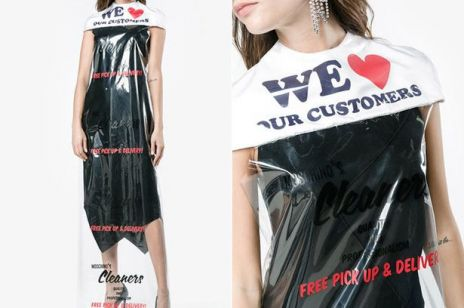 Sukienka jak worek na pranie Moschino