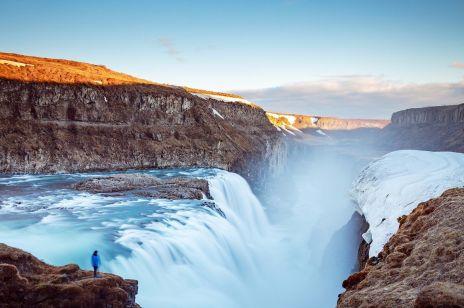 Wodospady Gullfoss i Goldern Circle na Islandii