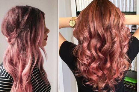 Rose gold - kolor włosów