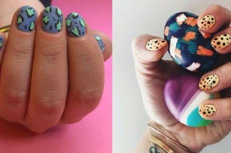 Paznokcie hybrydowe: paznokcie w panterkę [WIDEO]