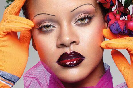 Cienkie brwi Rihanny na okładce Vogue'a