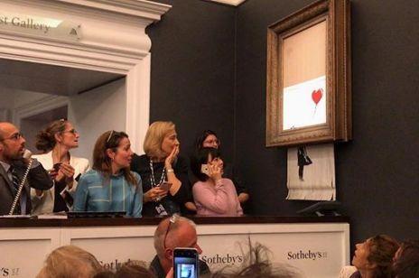 Banksy zniszczył własne dzieło warte milion funtów. Dlaczego to zrobił?