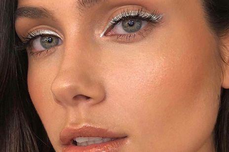 Srebrny eyeliner