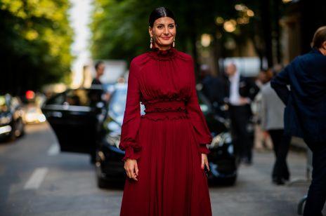 Czerwony w odcieniu wina modny kolor na zimę 2018