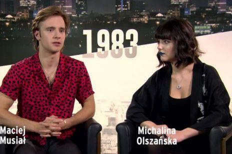 """Wywiad z Michaliną Olszańską i Maciejem Musiałem bohaterami """"1983"""" Netflix"""