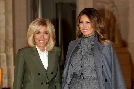 Melania Trump we Francji wyglądała lepiej niż Brigitte Macron