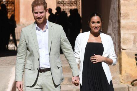 """Książę Harry zażartował sobie z ciąży Meghan Markle: """"Jesteś w ciąży? To na pewno moje dziecko?"""""""