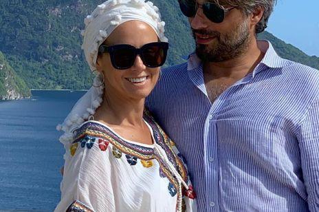 Kinga Rusin z partnerem Markiem na wakacjach