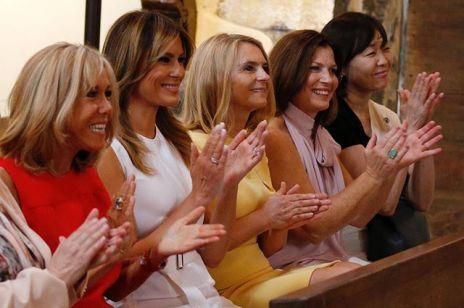 Pierwsze damy na szczycie G7: spacery i degustacja win