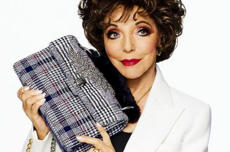 Fenomenalna Joan Collins w reklamie modowej marki