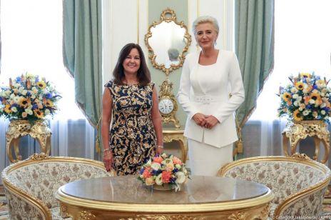 Agata Duda na spotkaniu z Karen Pence. Pierwsza Dama zadała szyku