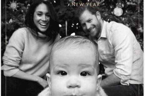 Świąteczna kartka Meghan Markle książę Harry i mały Archie