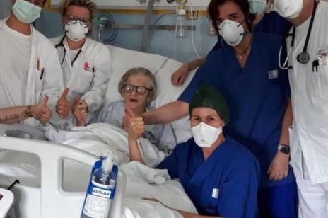 95-letnia Włoszka wyleczona z koronawirusa