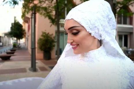 Zakochani robili zdjęcia ślubne, gdy usłyszeli ogromny huk. Młoda para z Bejrutu wspomina wybuch
