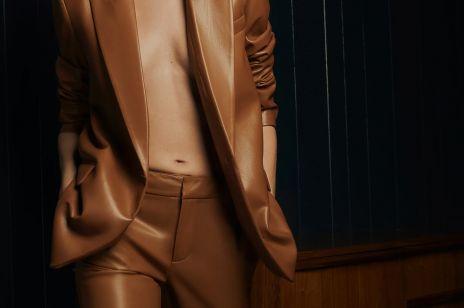 Nowości w Zara na jesień 2020 - marynarka i spodnie ze sztucznej skóry