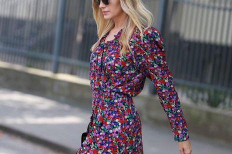Agnieska Woźniak-Starak w sukience w kwiaty