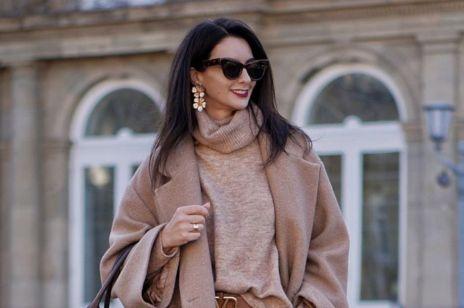 Stylizacja z Instagrama: Luksusowa torebka vintage, beżowy płaszcz i wełniany sweter, czyli mistrzostwo prostej elegancji