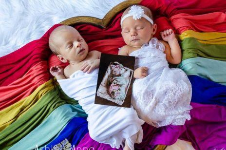 Fotografka wykonała niesamowicie wzruszające zdjęcie: tak uczciła śmierć swojej córeczki i narodziny bliźniaków