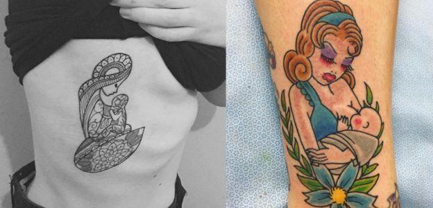 Karmienie piersią jako tatuaż nowy trend na Instagramie