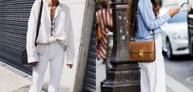 Białe jeansy jak je nosić?